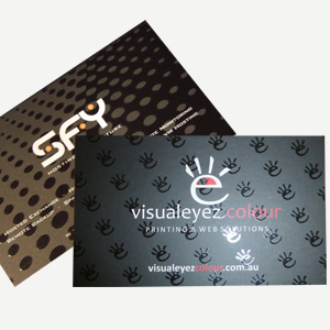 Business cards visualeyez colour printing web solutions business cards 450gsm velvet laminate spot uv reheart Images